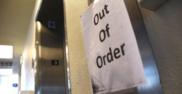 علل از کار افتادن آسانسورها